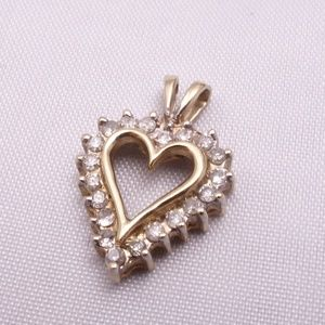 10K Yellow Gold & Diamond Pendant